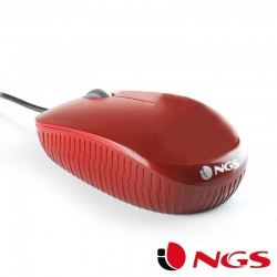 Rat¢n Usb NGS Flame Rojo