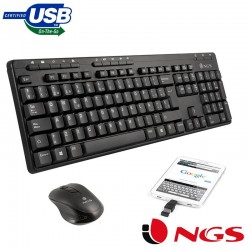 Teclado USB PC Kit NGS...